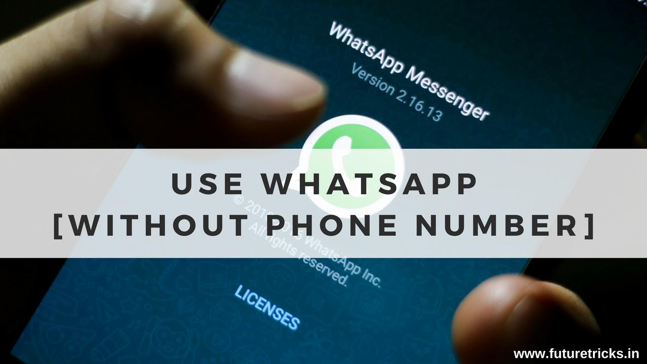 बिना नंबर के WhatsApp कैसे चलाये - International