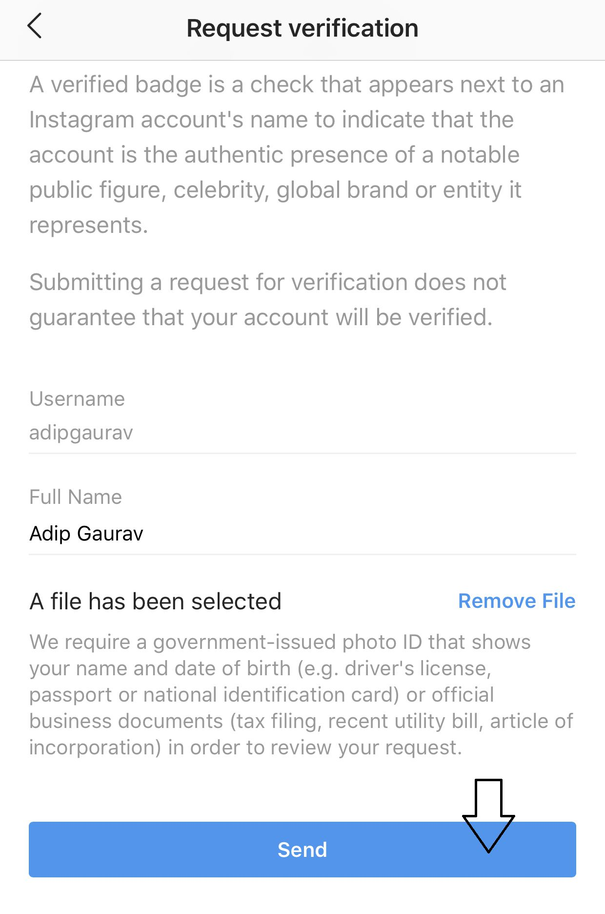 Instagram Account Ko Verify Kaise Kare (Official Method)