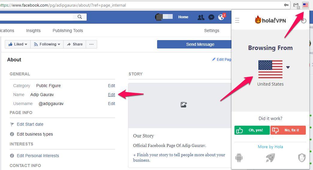 Facebook Page Name Change कैसे करें [After Limit]